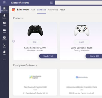 Sales-Order-from-Microsoft-Teams